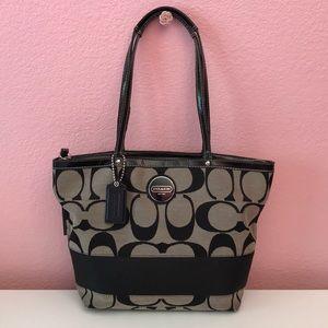 COACH black logo handbag
